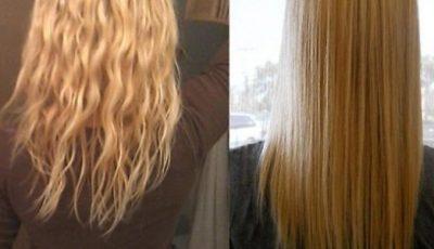 علاج الشعر الجاف والمتقصف والخشن